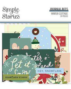 Winter Cottage Journal Bits & Pieces - Simple Stories