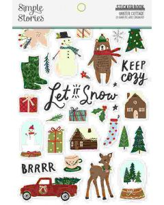 Winter Cottage Sticker Book - Simple Stories