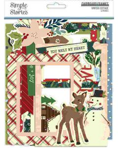 Winter Cottage Chipboard Frames - Simple Stories