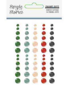 Winter Cottage Enamel Dots - Simple Stories