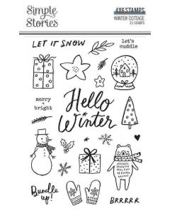 Winter Cottage Stamps - Simple Stories