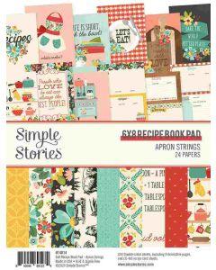 "Apron Strings 6"" x 8"" Recipe Book Pad - Simple Stories"