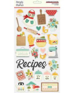 Apron Strings Chipboard Stickers - Simple Stories