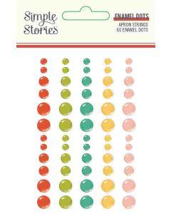 Apron Strings Enamel Dots - Simple Stories