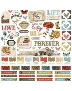 Simple Vintage Ancestry Cardstock Stickers - Simple Stories*