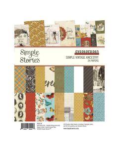 """Simple Vintage Ancestry 6"""" x 8"""" Paper Pad - Simple Stories*"""