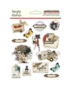 Simple Vintage Ancestry Layered Stickers - Simple Stories*