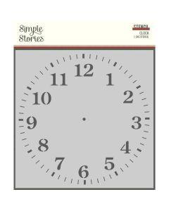 Clock Stencil - Simple Vintage Ancestry - Simple Stories*
