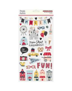 Say Cheese Main Street Chipboard Stickers - Simple Stories*