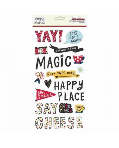 Say Cheese Main Street Foam Stickers - Simple Stories
