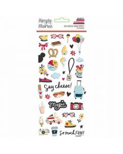 Say Cheese Main Street Puffy Stickers - Simple Stories*