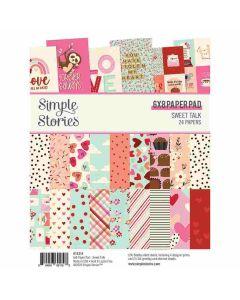 """Sweet Talk 6"""" x 8"""" Paper Pad - Simple Stories*"""