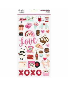 Sweet Talk Chipboard Stickers - Simple Stories*