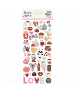 Sweet Talk Puffy Stickers - Simple Stories*