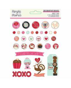 Sweet Talk Decorative Brads - Simple Stories*