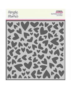 Scattered Stencil - Sweet Talk - Simple Stories*