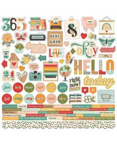 Hello Today Cardstock Stickers - Simple Stories*