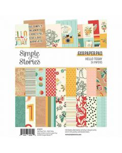 """Hello Today 6"""" x 8"""" Paper Pad - Simple Stories*"""