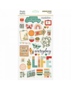 Hello Today Chipboard Stickers - Simple Stories*