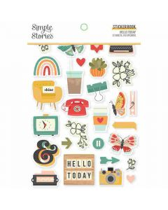 Hello Today Sticker Book - Simple Stories