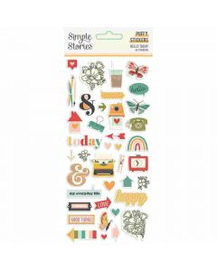 Hello Today Puffy Stickers - Simple Stories*