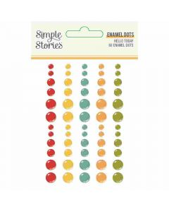 Hello Today Enamel Dots - Simple Stories*