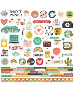 Quarantined Cardstock Stickers - Simple Stories*