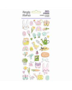 Bunnies + Blooms Puffy Stickers - Simple Stories*