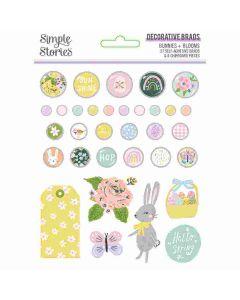 Bunnies + Blooms Decorative Brads - Simple Stories*