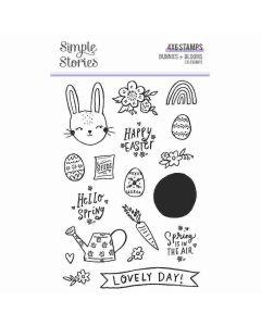 Bunnies + Blooms Stamps - Simple Stories*