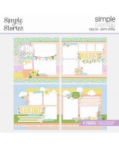 Happy Spring Page Kit - Bunnies + Blooms - Simple Pages - Simple Stories*