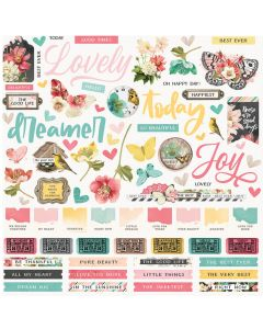 Simple Vintage Cottage Fields Cardstock Stickers - Simple Stories