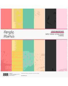 """Simple Vintage Cottage Fields 12"""" x 12"""" Basics Kit - Simple Stories"""