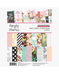 "Simple Vintage Cottage Fields 6"" x 8"" Paper Pad - Simple Stories"