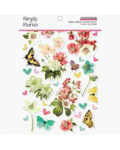 Simple Vintage Cottage Fields Sticker Book - Simple Stories