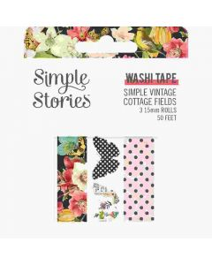 Simple Vintage Cottage Fields Washi Tape - Simple Stories