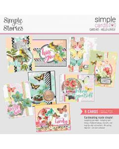 Hello Lovely Card Kit - Simple Cards - Simple Vintage Cottage Fields- Simple Stories