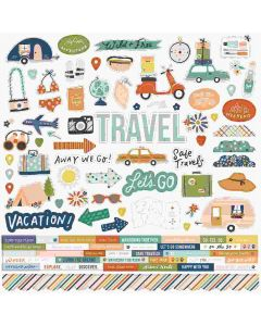 Safe Travels Cardstock Stickers - Simple Stories