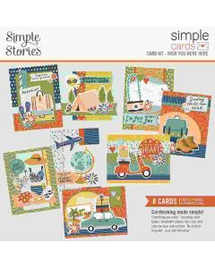 Wish You Were Here Card Kit - Simple Cards - Safe Travels - Simple Stories