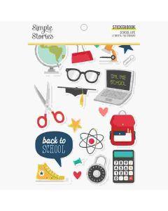 School Life Sticker Book - Simple Stories*