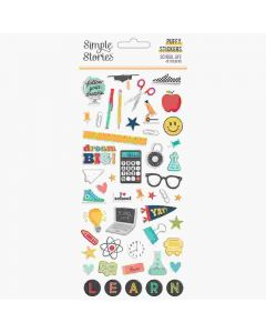 School Life Puffy Stickers - Simple Stories*