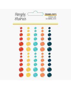 School Life Enamel Dots - Simple Stories*