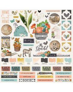 Simple Vintage Farmhouse Garden Cardstock Stickers - Simple Stories