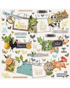 Simple Vintage Farmhouse Garden Banner Stickers - Simple Stories