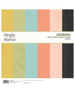 "Simple Vintage Farmhouse Garden 12"" x 12"" Basics Kit - Simple Stories"