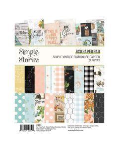 """Simple Vintage Farmhouse Garden 6"""" x 8"""" Paper Pad - Simple Stories"""