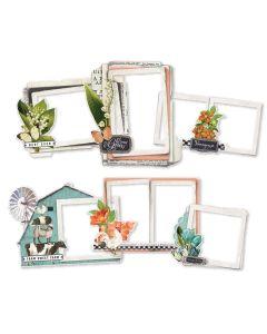 Simple Vintage Farmhouse Garden Chipboard Frames - Simple Stories