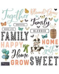 Simple Vintage Farmhouse Garden Foam Stickers - Simple Stories
