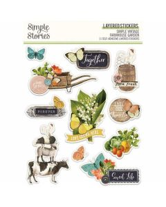 Simple Vintage Farmhouse Garden Layered Stickers - Simple Stories