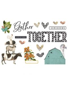 Gather Together Page Pieces - Simple Pages - Simple Vintage Farmhouse Garden - Simple Stories